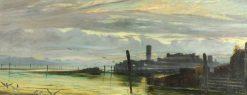Twilight in the Lagoons near Venice | George Howard