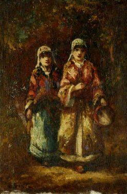Bohemiennes mendicantes | Narcisse Dìaz de la Peña | Oil Painting