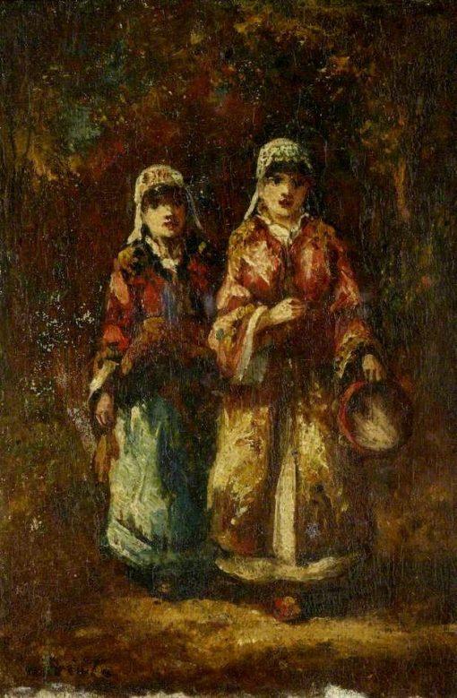 Bohemiennes mendicantes   Narcisse Dìaz de la Peña   Oil Painting