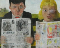 Children Reading Comics | Peter Blake | Oil Painting