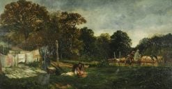 A Glade in Cadzow Forest: Clothes Drying | Samuel Bough | Oil Painting