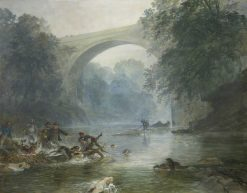 An Otter Hunt in Canonbie | Samuel Bough | Oil Painting
