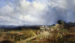 Baggage Waggons Approaching Carlisle | Samuel Bough | Oil Painting