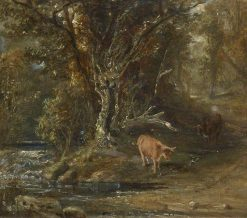 Cattle by a Stream | Samuel Bough | Oil Painting