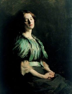 Portrait of a Girl Wearing a Green Dress | Sir William Orpen | Oil Painting