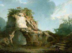 Virgil's Tomb: Sun Breaking through a Cloud | Joseph Wright of Derby | Oil Painting
