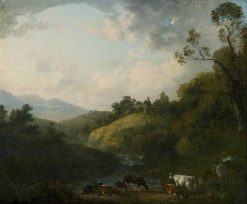 Scene in the Lake District | Julius Caesar Ibbetson | Oil Painting