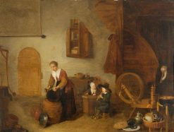 Domestic Dutch Interior | Quiringh van Brekelenkam | Oil Painting