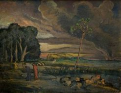 Landscape with Saint George and the Dragon | Roger Eliot Fry | Oil Painting