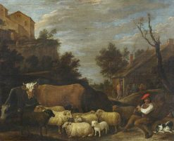 Landscape with Cattle and Sheep | David Teniers II | Oil Painting