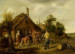 The Skittle Players | Jan Havicksz. Steen | Oil Painting