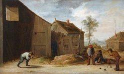 Peasants Playing Bowls | David Teniers II | Oil Painting