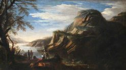 Rocky Landscape with Figures | Salvator Rosa | Oil Painting