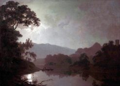 Snowdon by Moonlight | Joseph Wright of Derby | Oil Painting