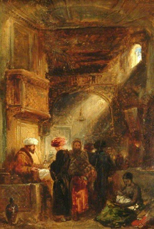 Opium Stall   William James Muller   Oil Painting