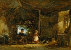 Interior of a Cottage in Wales | William James Muller | Oil Painting