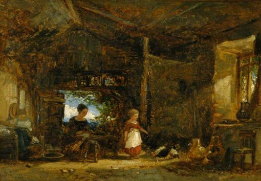 Interior of a Cottage in Wales   William James Muller   Oil Painting