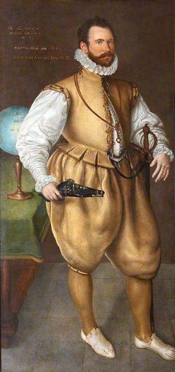 Sir Martin Frobisher (1535?-1594)   Cornelis Ketel   Oil Painting