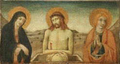 Christ at the Tomb with Saint Mary Magdalen and Saint John | Sano di Pietro | Oil Painting