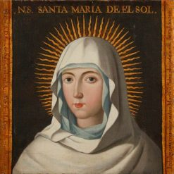 Head of the Virgin Mary | Spanish School th Century   Unknown | Oil Painting