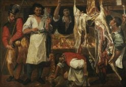 The Butcher's Shop | Annibale Carracci | Oil Painting