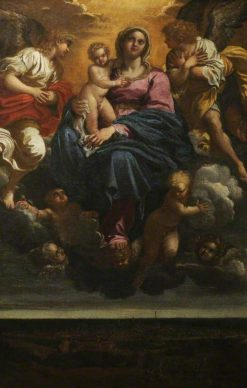 The Virgin and Child in the Clouds | Annibale Carracci | Oil Painting