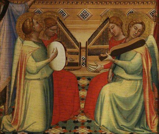 Four Musical Angels   Bernardo Daddi   Oil Painting