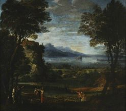 Landscape with the Daughters of Raguel at the Well | Domenichino | Oil Painting