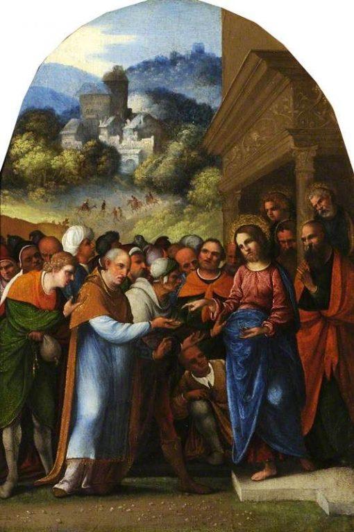 The Tribute Money | Ludovico Mazzolino | Oil Painting