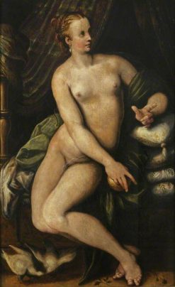 Venus Seated | Niccolò dell' Abbate | Oil Painting