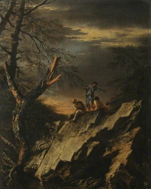 Rocky Landscape with Three Figures | Salvator Rosa | Oil Painting