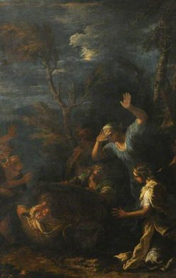 The Infant Erichthonius Delivered to the Daughters of Cyclops to be Educated | Salvator Rosa | Oil Painting