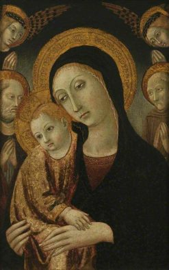 The Virgin and Child with Saints Bernardin and Jerome | Sano di Pietro | Oil Painting