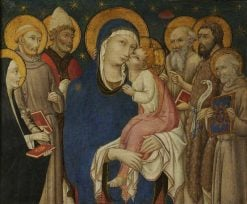 The Virgin and Child with Six Saints | Sano di Pietro | Oil Painting