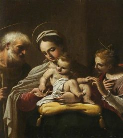 The Holy Family with Saint Catherine | Sisto Badalocchio | Oil Painting