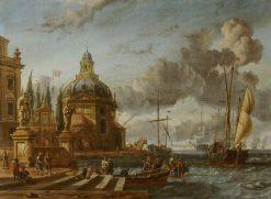 Harbour Scene | Abraham Jansz. Storck | Oil Painting
