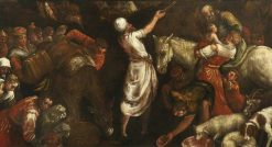 The Israelites Drinking the Miraculous Water   Jacopo Bassano   Oil Painting