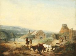 Romantic Rural Scene | Julius Caesar Ibbetson | Oil Painting