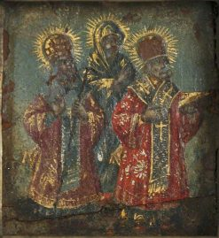 Triptych (left panel)   Byzantine School Unknown   Oil Painting