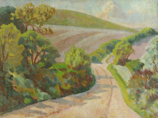 A Lane in Rolling Countryside