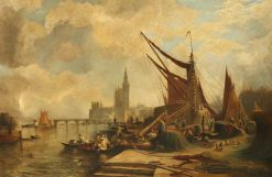 The Thames at Westminster | Samuel Bough | Oil Painting