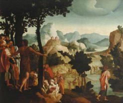 Saint John the Baptist Preaching | Jan van Scorel | Oil Painting