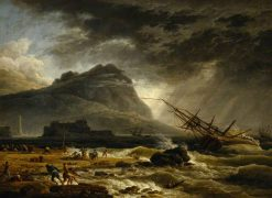 Midday: A Ship Offshore Foundering in a Storm | Claude Joseph Vernet | Oil Painting