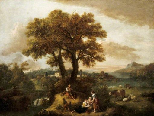 Italian Landscape with a Boy Piping | Francesco Zuccarelli | Oil Painting