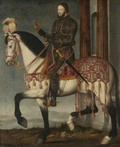 Francois I of France on Horseback | Francois Clouet | Oil Painting