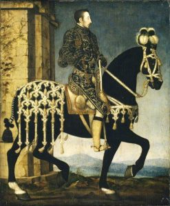 Henry II of France on Horseback | Francois Clouet | Oil Painting