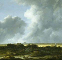 Le coup de soleil' (Alkmaar from the South West and Egmond) | Jacob van Ruisdael | Oil Painting