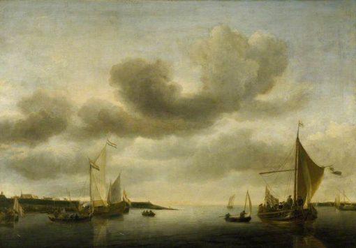 A River Estuary with Shipping | Jan van de Cappelle | Oil Painting