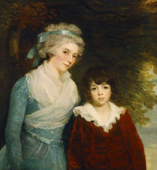 The Marquise de Sivrac de Rieux and Her Son