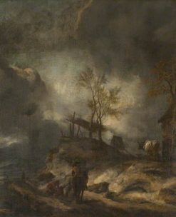 A Landscape with Dunes and Figures | Philips Wouwerman | Oil Painting